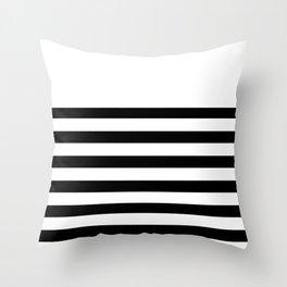 Black and white bretton stripe art Throw Pillow