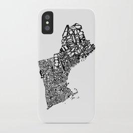 Typographic New England iPhone Case