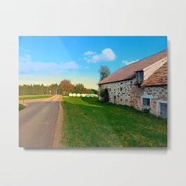 Traditional farmhouse scenery | landscape photography Metal Print