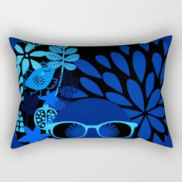 Afro Diva : Sophisticated Lady Royal Blue Rectangular Pillow