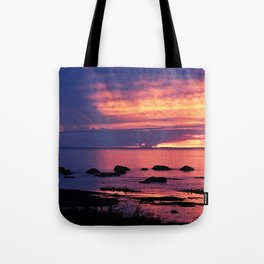 Sunset on the Mighty St-Lawrence Tote Bag