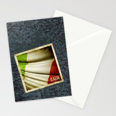 Grunge sticker of Italy flag Stationery Cards