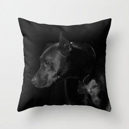 The black dog 7 Throw Pillow
