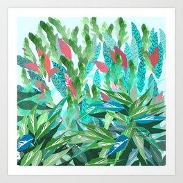 HKC-NLG Mormix Leaves Art Print