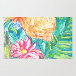 Floral watercolor Rug