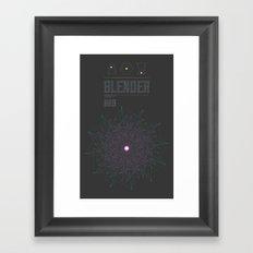 Blender experiment no.9 Framed Art Print