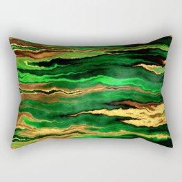 Gold & Emerald Rectangular Pillow