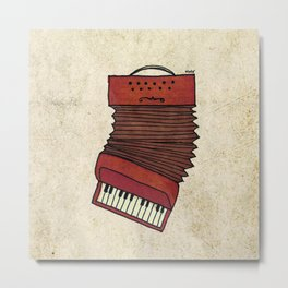 Accordion Metal Print