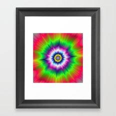 Explosive Tie-Dye Framed Art Print
