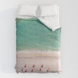 Orange Umbrellas Comforters