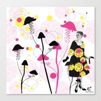 mushroom Canvas Prints featuring Mushroom by Emilie Ramon