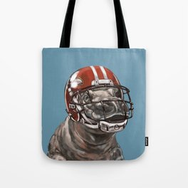 Rugby Hippo Tote Bag