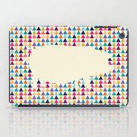 piglet iPad Cases featuring Geometric Piglet  by ArtisanObscure Prints