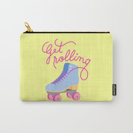 Get Rolling (Yellow Background) Carry-All Pouch