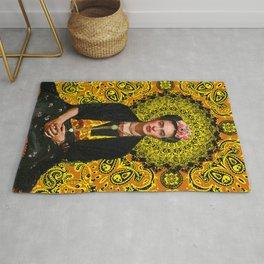 Frida Kahlo 3 Yellow Rug