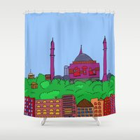 istanbul Shower Curtains featuring Istanbul by andy_panda_