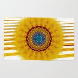 Mandala yellow rays Rug