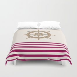 AFE Gold Nautical Helm Wheel Duvet Cover