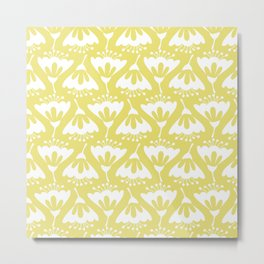 Yellow and White Flowers Metal Print
