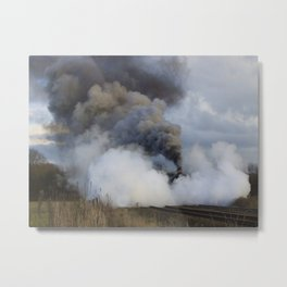 Rood Ashton Hall in clouds of steam Metal Print
