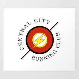Central City running club Art Print