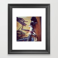 Feathers, Leather and Beads Framed Art Print