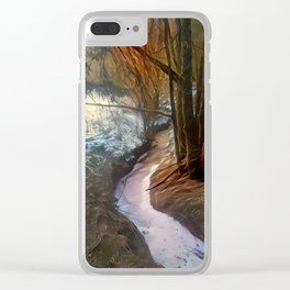 Late Wintrous Brook Clear iPhone Case