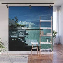 Steps Into Tropical Island Waters Wall Mural