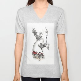 Billy Torso with Red Toadstools Unisex V-Neck