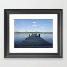 Summer Lake Dock Framed Art Print