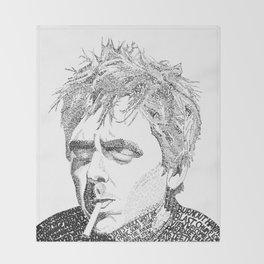 Billie Joe Armstrong - Word Art Throw Blanket