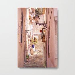 Narrow Street in Lisbon Metal Print