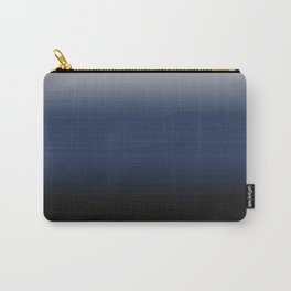 Silver Blue to black painted gradient Ombre space Carry-All Pouch