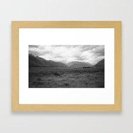 //03-11 AORAKI IN CLOUDS Framed Art Print