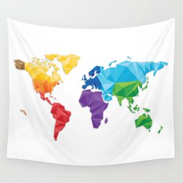 World of geometric concept design  Wall Tapestry