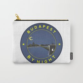 Budapest By Night, circle with frame Carry-All Pouch