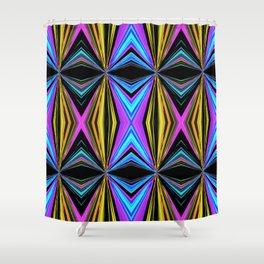 Funky Diamond Print Shower Curtain