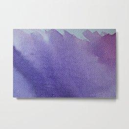 Watercolor Canvas Metal Print