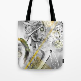 Orange^Moon°  - Exhaling with Green Eyes Tote Bag