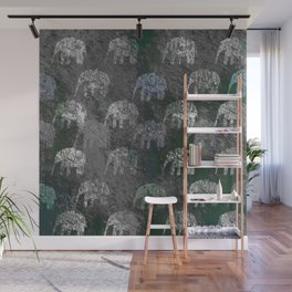 Elephants are going Wall Mural