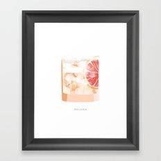 Cocktail Hour: Paloma Framed Art Print