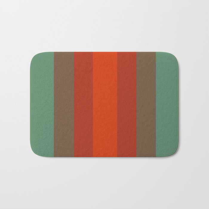 Rust Turquoise Spice 2 Color Therapy Bath Mat By Desertsart Society6