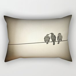 Three Little Birds Rectangular Pillow
