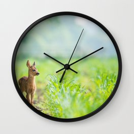 Little Doe (Color) Wall Clock