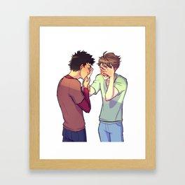 Iwaoi hand kiss Framed Art Print