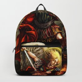 Saint Michael Archangel against the Devil Backpack
