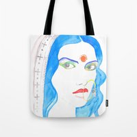 bride Tote Bags featuring Bride by Rashmi Dagwar