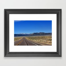 The Loneliest Road Framed Art Print