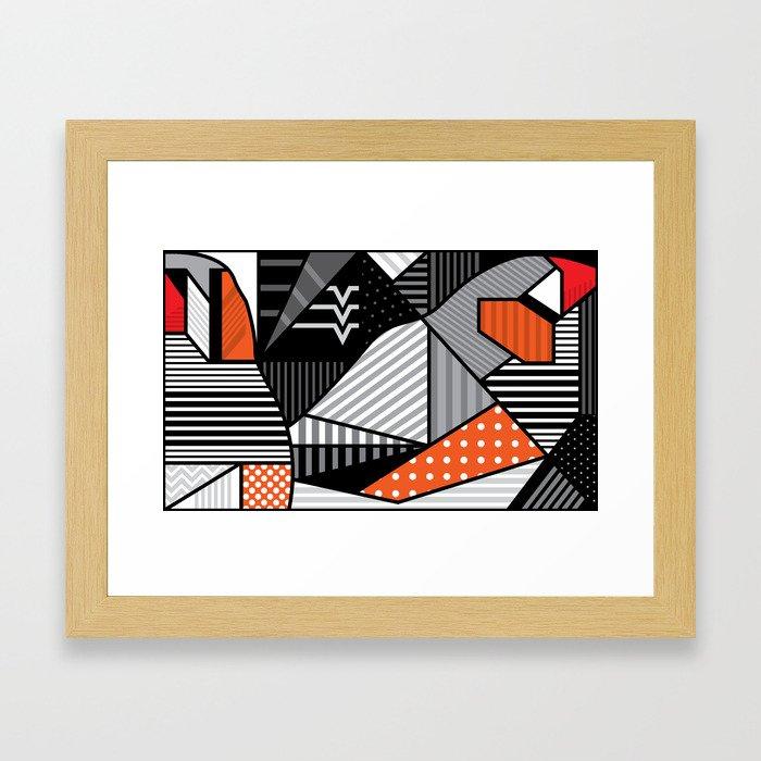 zebra finches Framed Art Print