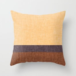 Simple Stripe Abstract with Burlap Pattern Throw Pillow